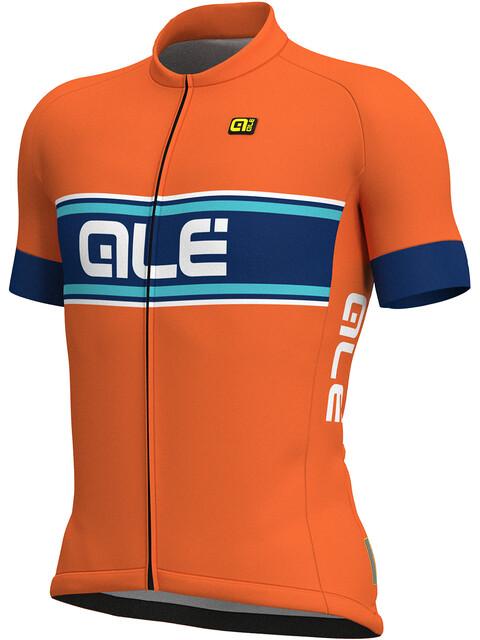Alé Cycling Solid Vetta Short Sleeve Jersey Men flou orange-blue-turquoise